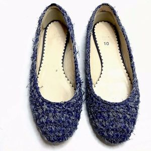 Missoni Flats Slip On Shoes Tweed Blue